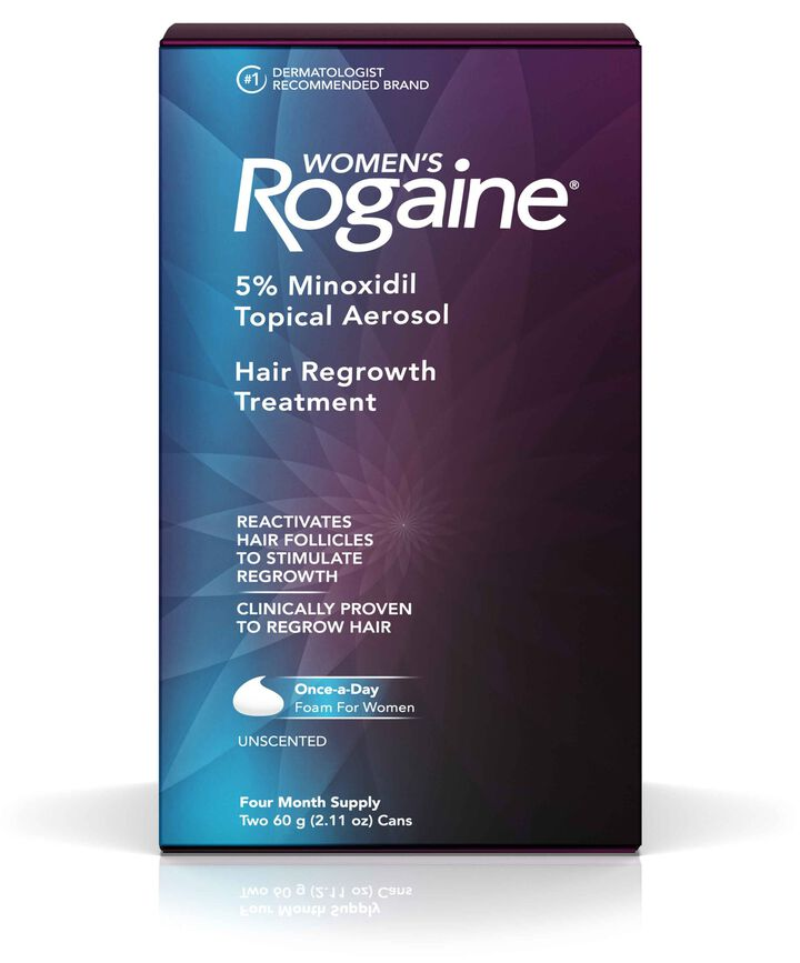 Women's ROGAINE® 5% Minoxidil Unscented Foam