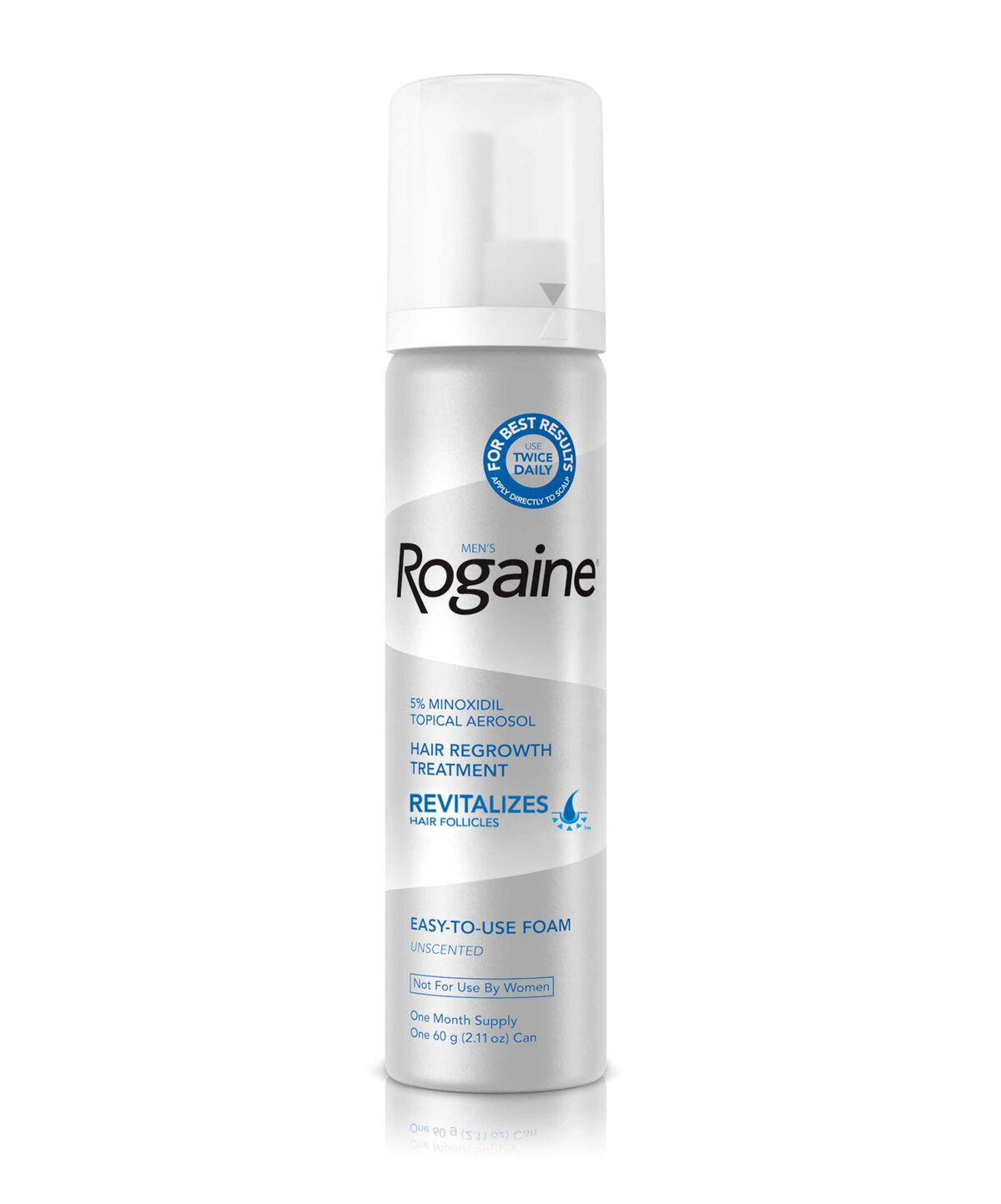 Men's ROGAINE® 5% Minoxidil Unscented Foam Subscribe & Save Up To 20% (View  discounted prices in the cart)