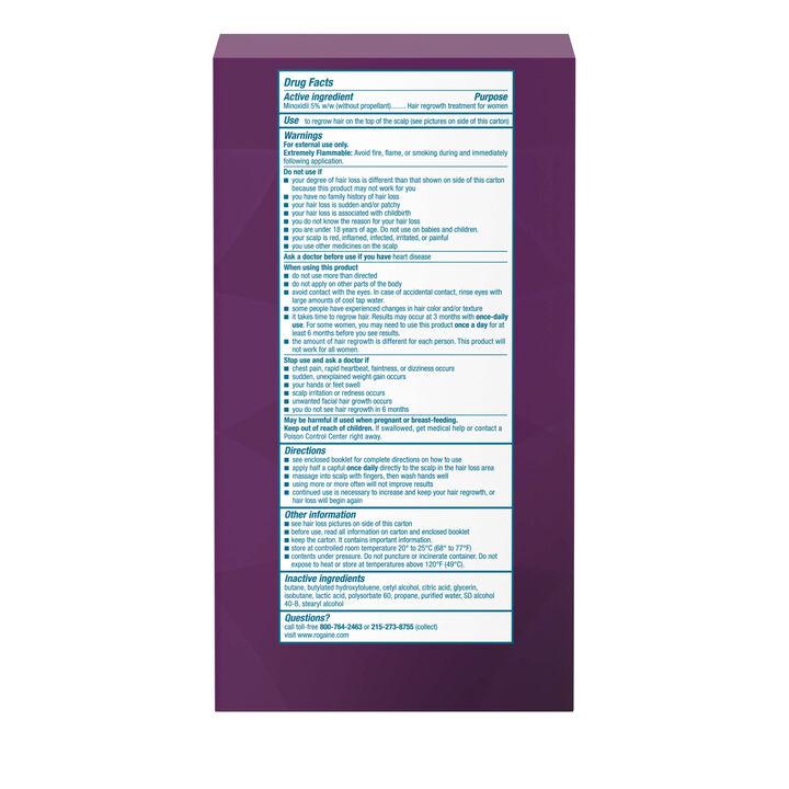 Women's ROGAINE® 5% Minoxidil Unscented Foam