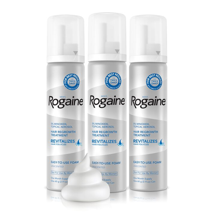 Men's ROGAINE® 5% Minoxidil Unscented Foam