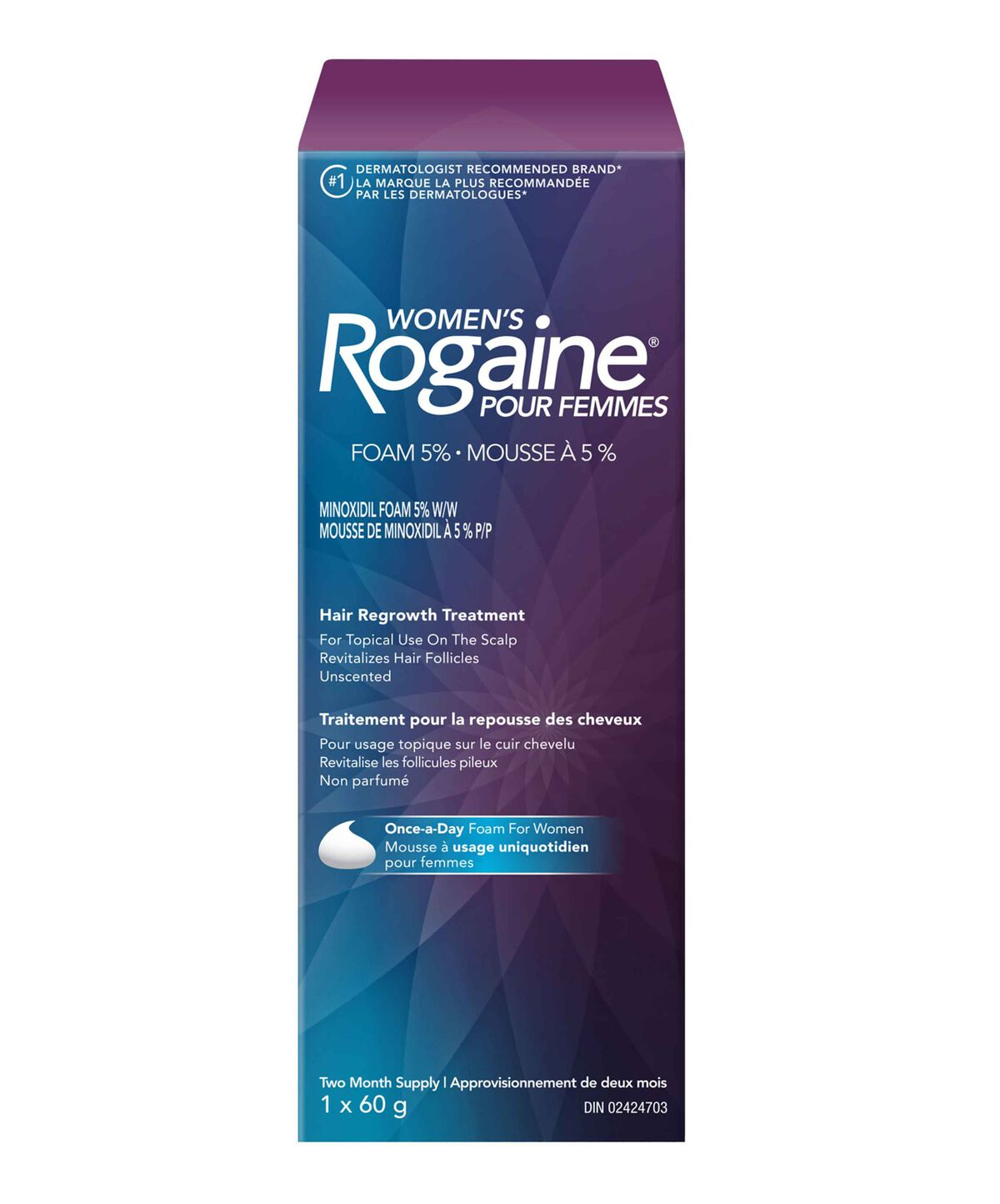 Women's ROGAINE ® 5% Minoxidil Unscented Foam